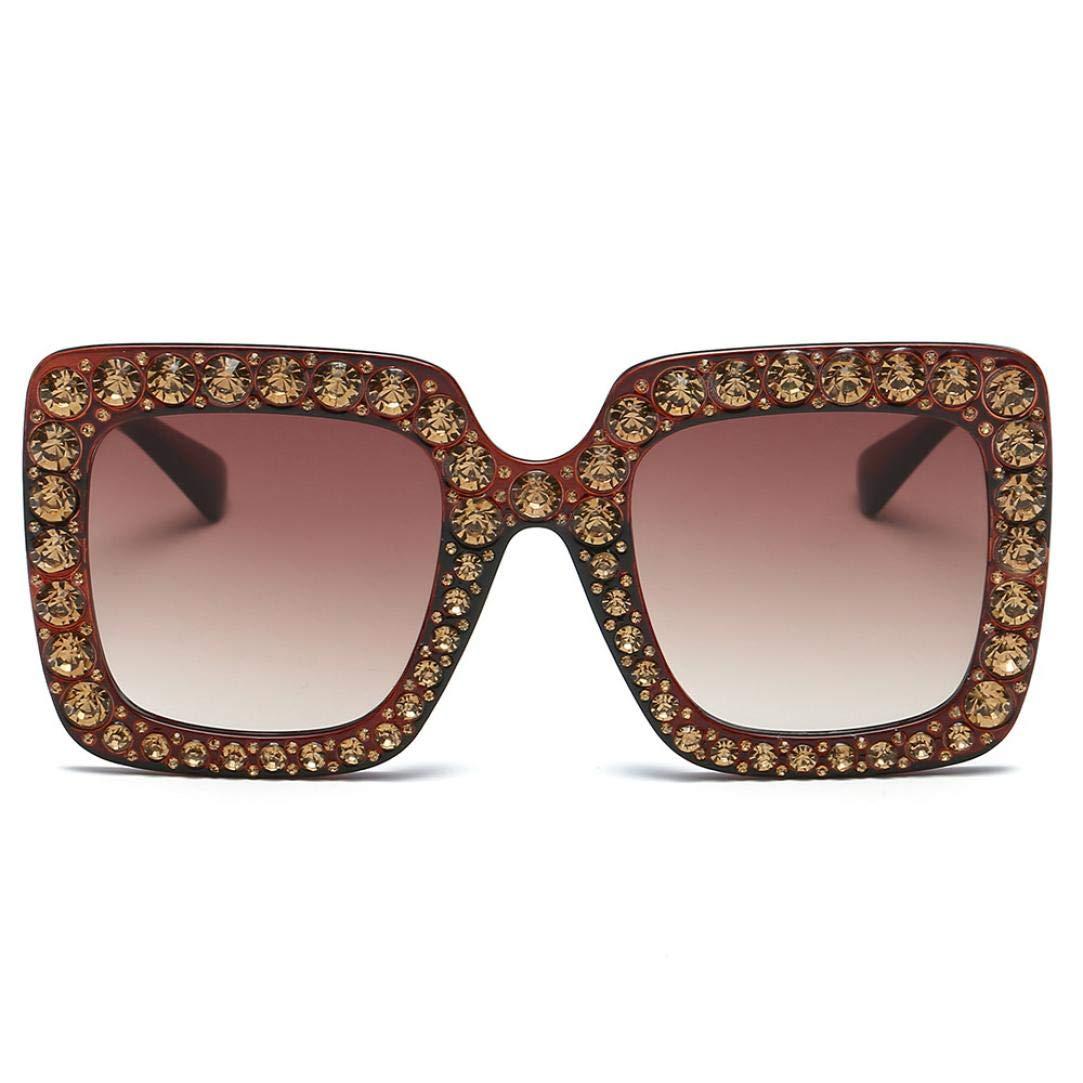 8c35dd50b7b3a Whitegeese Retro Classic - anteojos de sol con lentes planas de gran  tamaño
