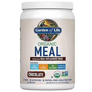 Garden of Life Organic Meal Replacement Shake Mix Chocolate 22oz, pack of 1
