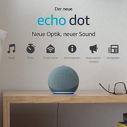 Der Neue Echo Dot 4 Generation Smarter Lautsprecher Mit Alexa Blaugrau Alle Produkte