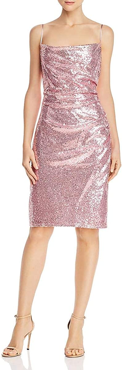 Laundry by Shelli Segal Womens Sequined Bodycon Cocktail Dress