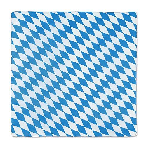 Beistle 57085 Oktoberfest Bandana, 22 x 22, Blue/White