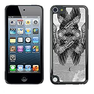 Shell-Star Arte & diseño plástico duro Fundas Cover Cubre Hard Case Cover para Apple iPod Touch 5 ( Wings Bird Meaning Deep Painting )