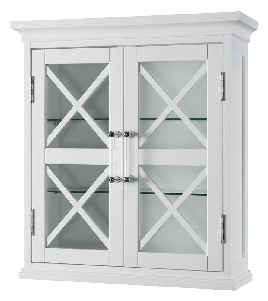 Elegant Home Fashions Blue Ridge 2-Door Wall Cabinet in White