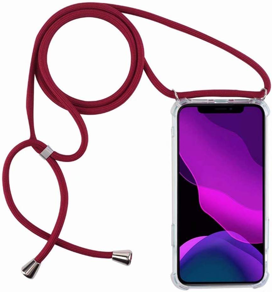 2ndSpring Funda con Cuerda Compatible con iPhone 7 Plus//iPhone 8 Plus,Colgante Collar Correa de Cuello Cadena Cord/ón,Gris