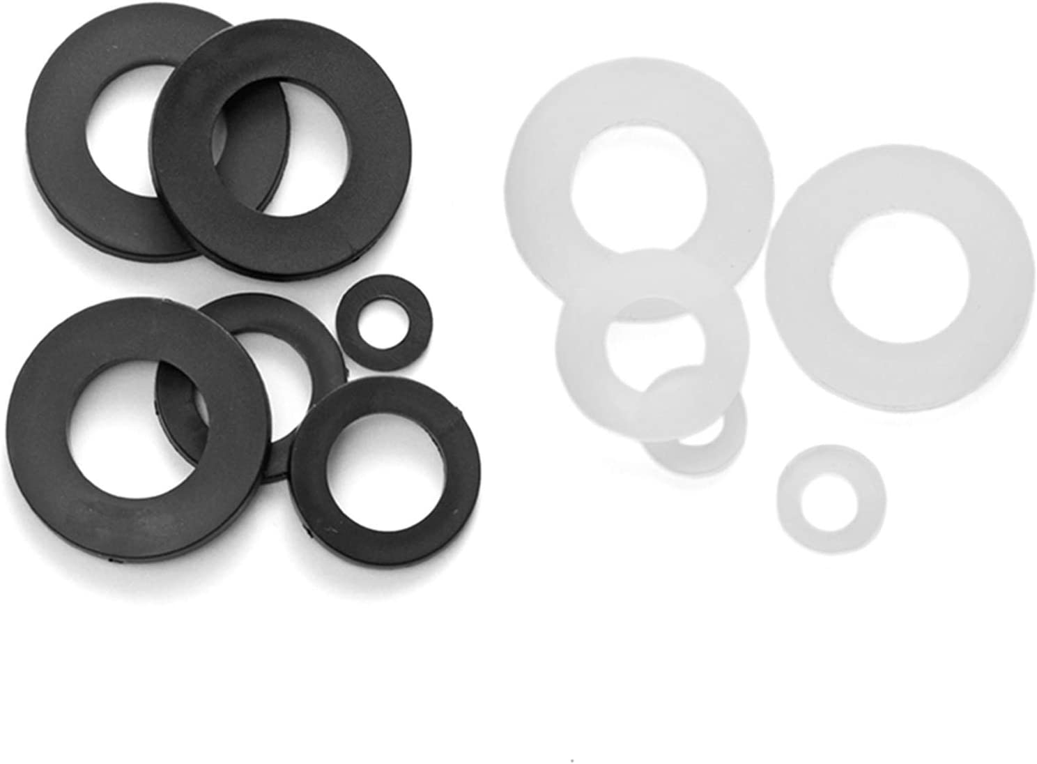 Color : Black , Inner Diameter : M12x24x2 10-100pcs M2 M2.5 M3 M4 M5 M6 M8 M10 M12 M16 White// Black Plastic Flat Washer Insulation Seals Gasket Ring high Strength Stainless Steel 50pcs