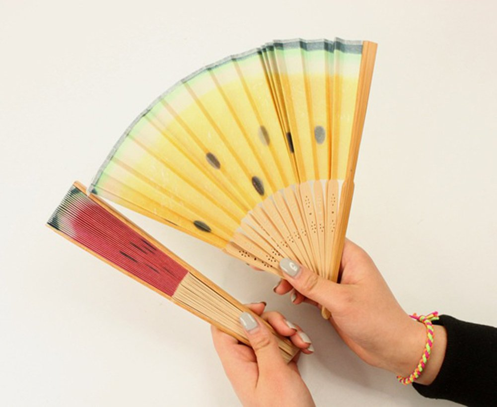 Amazon.com: Yonger Fashion Fruit Chinese Fan Hand Held Folding ...