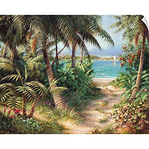 Canvas on Demand Art Fronckowiak Wall Peel Wall Art Print Entitled Bahama Sail (Fronckowiak Tropical Print)