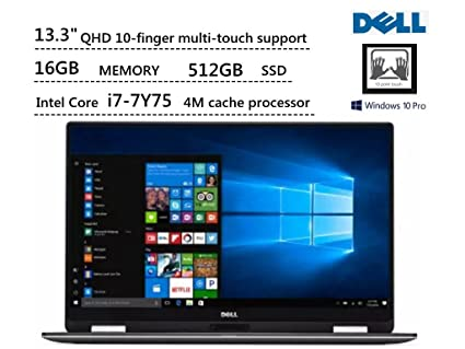 amazon com dell xps 13 xps9365 13 3 2in1 qhd touch i7 7y75 16gb