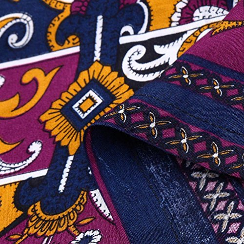 Mini Party GreatestPAK Courte Coton Femmes Robe Robes Longues Manches d'impression Noir Floral Robe Boho Doux africaines 8wgEwq4x7