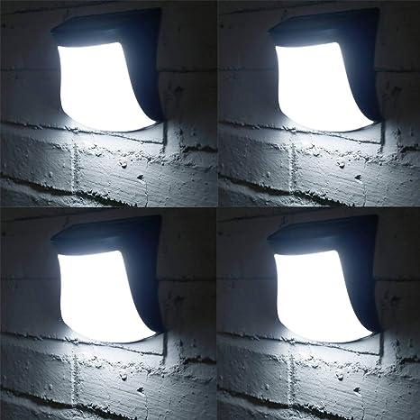 UR MAX BEAUTY Luces Solares Montadas En La Pared, Luces Solares Led Iluminación Exterior Impermeable Blanca Cálida para Exteriores, Cerca, Patio, Puerta Frontal, Escalera, Landscape-4Pack,4whitelight: Amazon.es: Deportes y aire libre