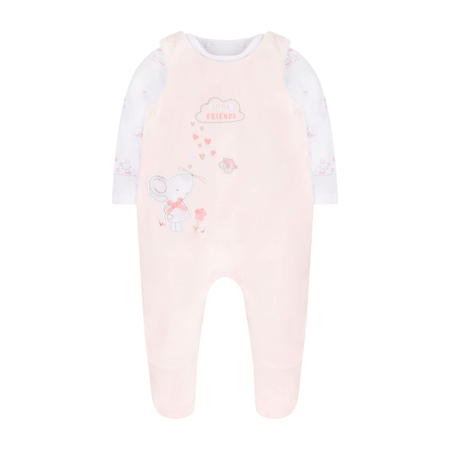 My First Velour Bunny Dungarees Mothercare MD307