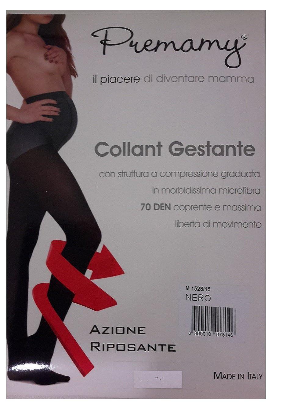 Premamy COLLANT GESTANTE 70 DEN. MICROFIBRA AZIONE RIPOSANTE COL.GRIGIO ANTRACITE TG 5L 1528/46