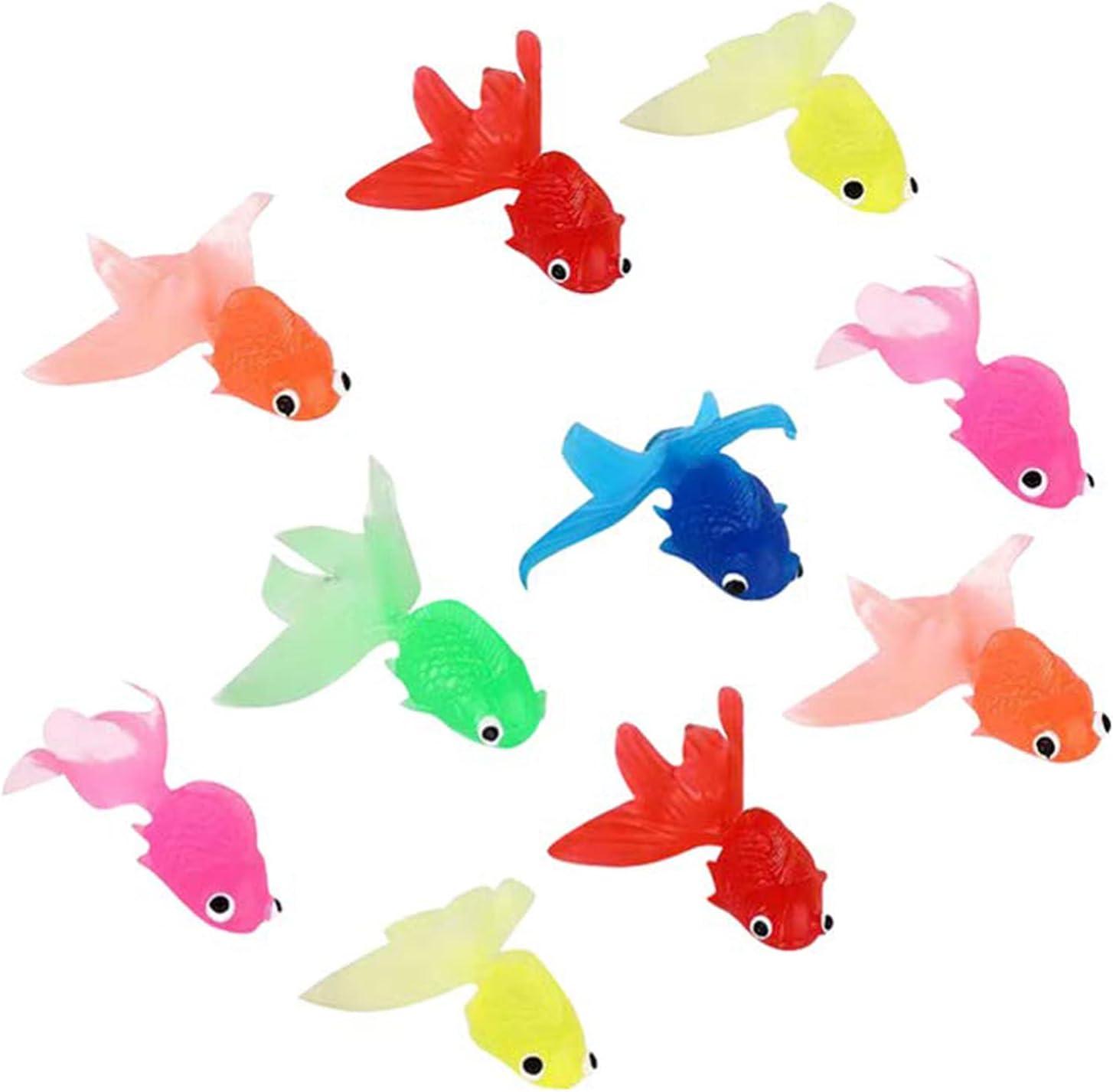 ZXWAMZ Simulazione Piccolo Pesce Rosso Simulazione di Pesci Tropicali Ornamento di Pesce Galleggiante per Acquari Decorazioni Colorate Ornamenti Paesaggistici Galleggianti 10 Pezzi (Colore Casuale)