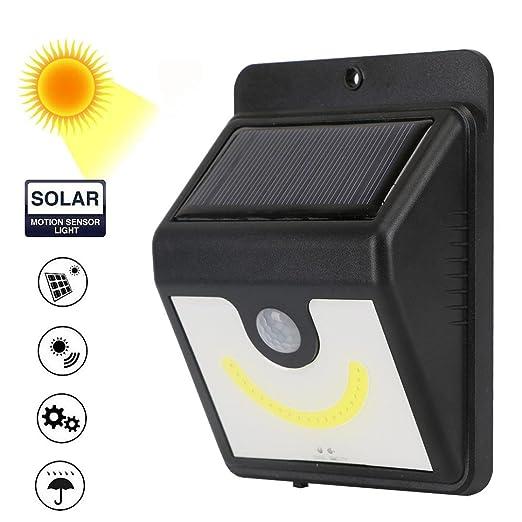 STRIR LED Lámparas Solares, Luces de Exterior con Sensor de Seguridad por Movimiento Inalámbricas y