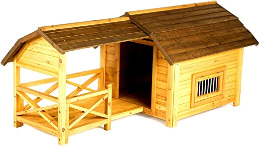 Amazon Com Pet Barn Dog House Wooden Cold Protection Or Damp