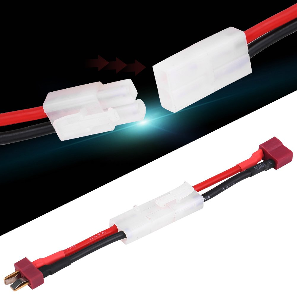 2Pcs T Plug Wire 14 AWG Cable Hembra//Macho a Tamiya Macho//Hembra Cable Adaptador