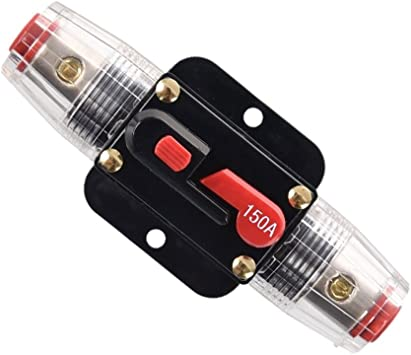 30A Car Audio Amplifier In-Line Circuit Breaker Fuse for 12V System Protection~