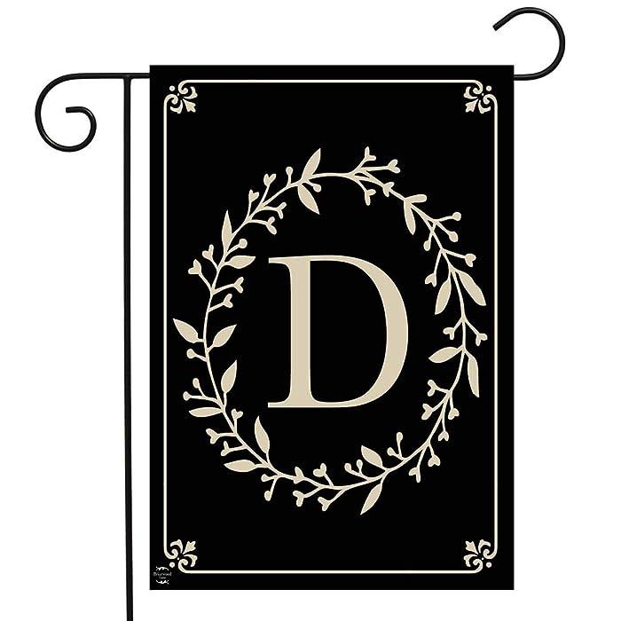 "Briarwood Lane Classic Monogram Letter D Garden Flag Everyday 12.5"" x 18"""