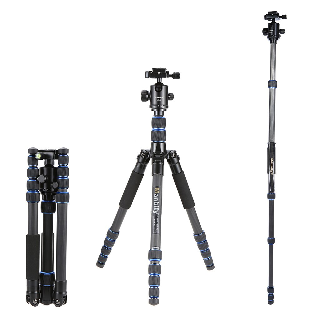 Andoer® Manbily KM-0 Pro Camera Testa a Sfera Testa Treppiedi Testa Panoramica Scorrevole in Lega di alluminio cassonetto max 15 kg Capacità di carico