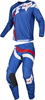 Fox Racing 2019 180 COTA Jersey and Pants Combo Offroad Gear Set Adult Mens Blue Large Jersey/Pants 36W