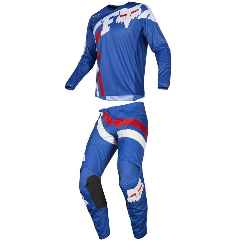Fox Racing 2019 180 COTA Jersey and Pants Combo Offroad Gear Set Adult Mens Blue XXL Jersey/Pants 38W by Fox Racing