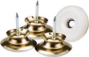 "Waxman Consumer Group 4606195N 1"" Brass Nail On Swivel Glide 4 Piece Set"