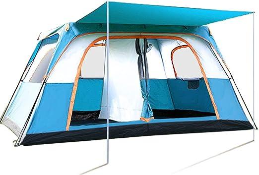 Tienda de campaña al aire libre for familias 6-8-10 personas tienda de campaña exterior doble de dos habitaciones impermeables Tiendas gigantes for caminatas, pesca, campamentos familiares y actividad: Amazon.es: Deportes y aire
