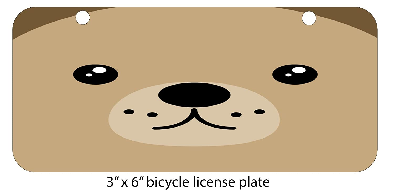 Ted Bear Aluminum License Plate