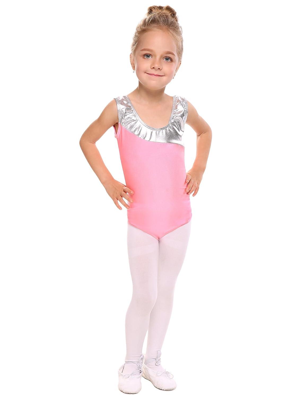 Arshiner Girl's Leopard Sleeveless Camisole Dance Gymnastics Leotard **AM003400