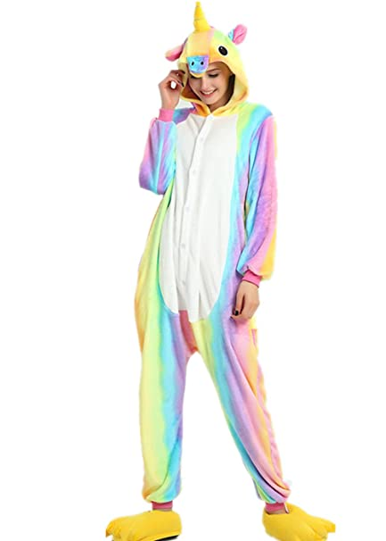 c6b6899fcd VineCrown Adulti Costumi Pigiama Unicorno Anime Cosplay Halloween Costume  Animale Pigiami e camicie da notte Attrezzatura