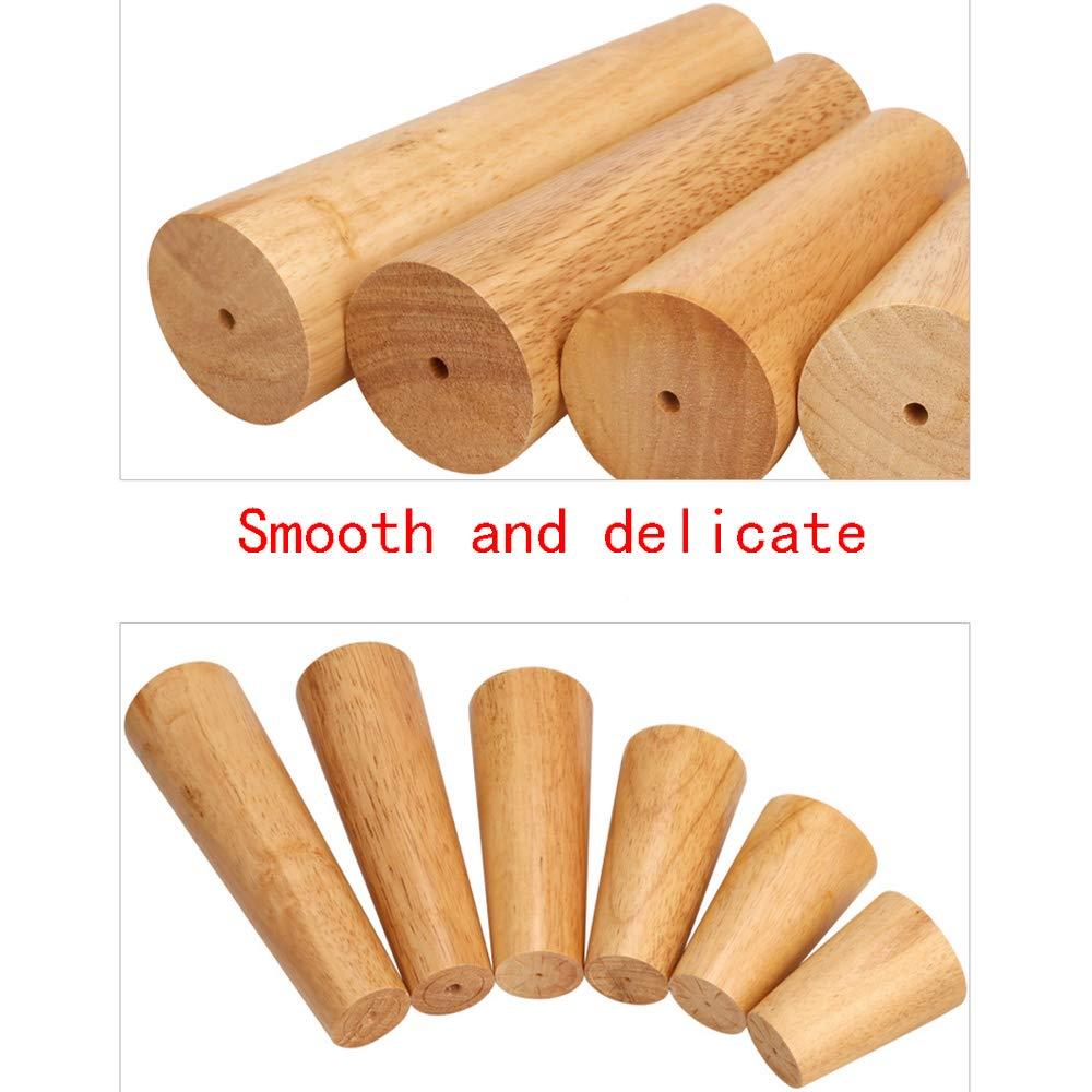 Multi-Size Furniture feet M/öbelbeine aus massivem Holz Couchtisch Sofa neigen Eiche Schrank F/ü/ße erh/öht DIY Zubeh/ör Zubeh/ör 4 Sets
