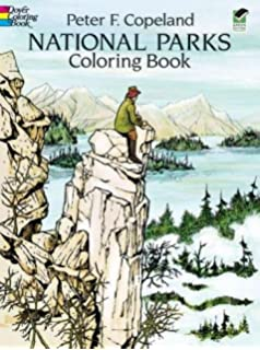 national parks coloring book dover nature coloring book - Nature Coloring Book