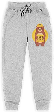 Yuanmeiju Papa Bear Boys Pantalones Deportivos,Pantalones Deportivos for Teens Boys Girls