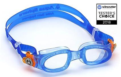 6895b0f8e9 Aqua Sphere Kayenne anteojos de natación para niños, Hecho en Italia, Azul  (Clens