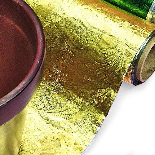 Polyethylene Gold Embossed Floral Foils 20
