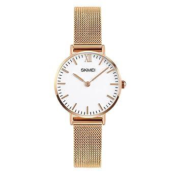 Amazon.com: Relojes de cuarzo para mujer ultrafinos y ...