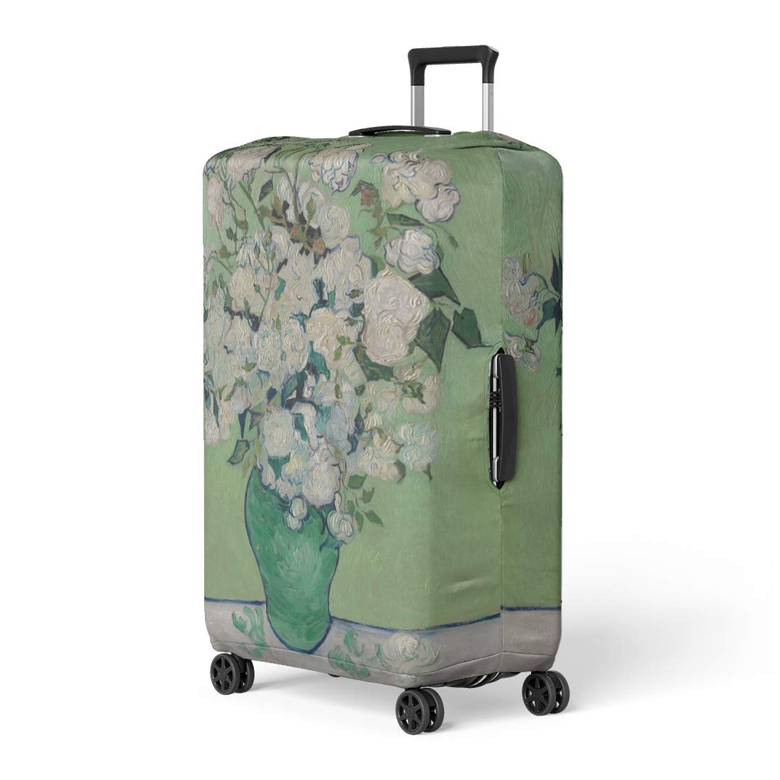 Pinbeam Luggage Cover Roses By Vincent Van Gogh 1890 Dutch Post Travel Suitcase Cover Protector Baggage Case Fits 22-24 inches by Pinbeam
