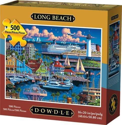 Dowdle Folk Art Long Beach Jigsaw Puzzle