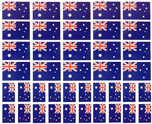 40 Removable Stickers: Australia Flag, Australian Party Favors, Decals Australia Flag Sticker