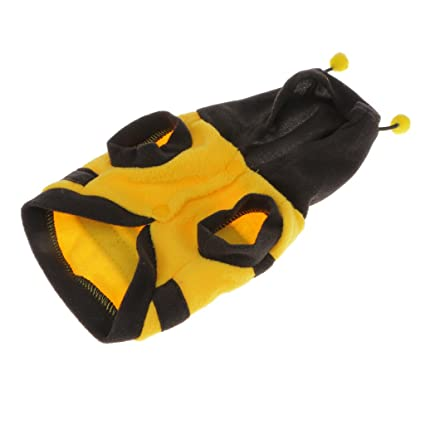 40650bde5c3 Pet Hoodie Fancy Bee Costume for Dog and Cat  Amazon.in  Pet Supplies