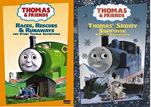 2 DVD Thomas Set - Thomas & Friends Wooden Tank Train Engine - Brand New Loose (Thomas The Train Wooden Murdoch)