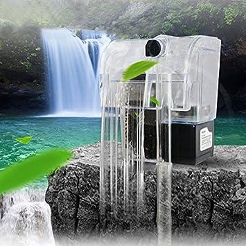 Rokoo Filtro de corriente del acuario bomba de agua de circulación de agua Tanque de peces mini dispositivo de filtro colgante externo: Amazon.es: Hogar