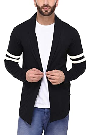 fb2442dd3d1e9 DENIMHOLIC Men s Cotton Sweater (Black+White, Small). Roll over image to  zoom in