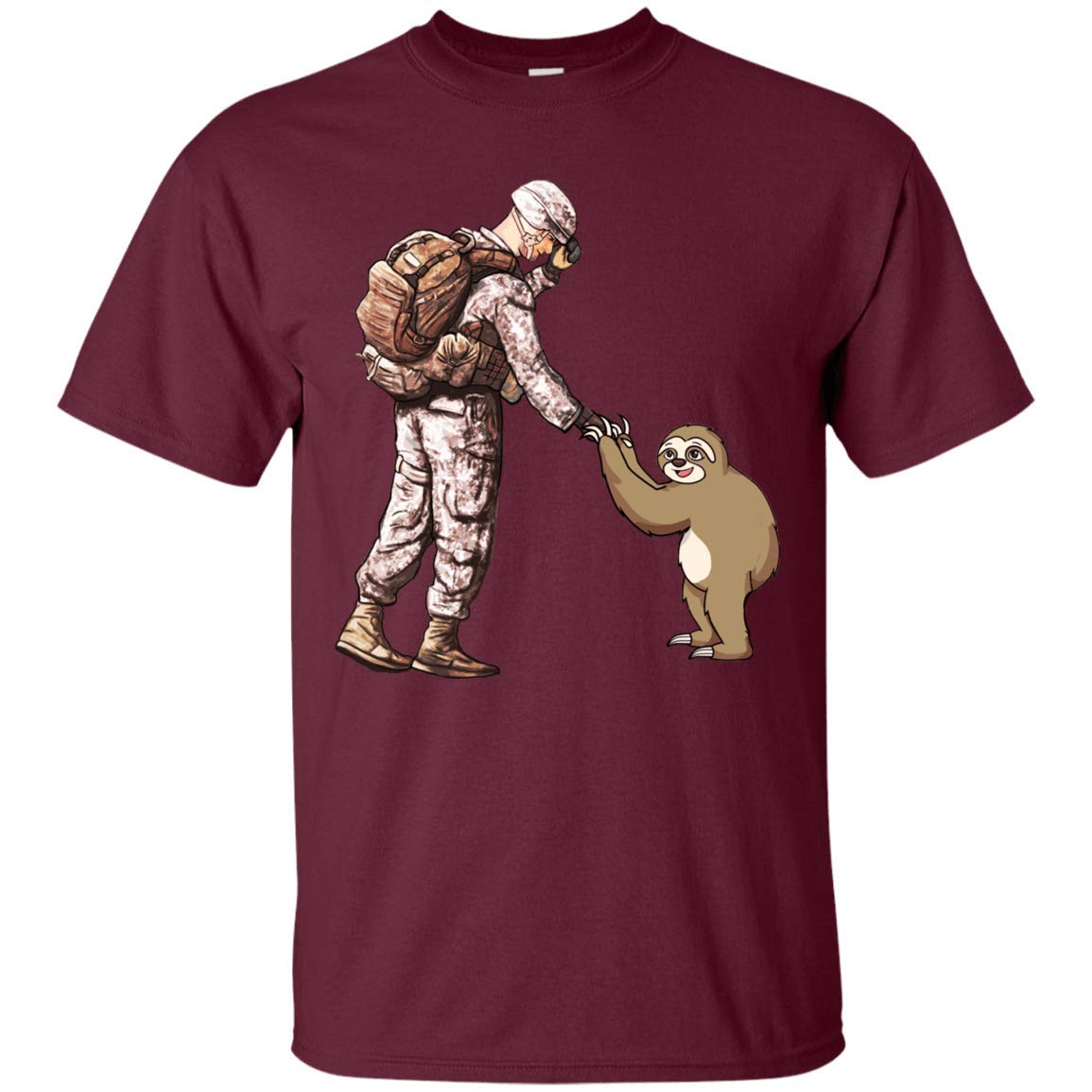 Sungox Army Man And Sloth Unisex T Shirt