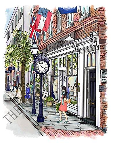 King Street | Charleston, South Carolina | Giclee Art - Charleston Market Street