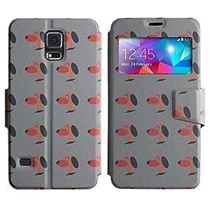 LEOCASE lindo perro Funda Carcasa Cuero Tapa Case Para Samsung Galaxy S5 I9600 No.1006269