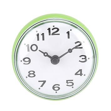 Agua Densidad ducha Reloj con ventosa redondean Árabes Digital Esfera para baño ducha Reloj accesorio de cocina baño banduhr pared montaje, ...