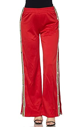 d4fa98dc Snap Tearaway Track Pants in Red at Amazon Women's Clothing store: