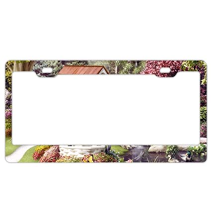 Amazon.com: Jailjack License Plate Frames, Beautiful Garden Birds ...