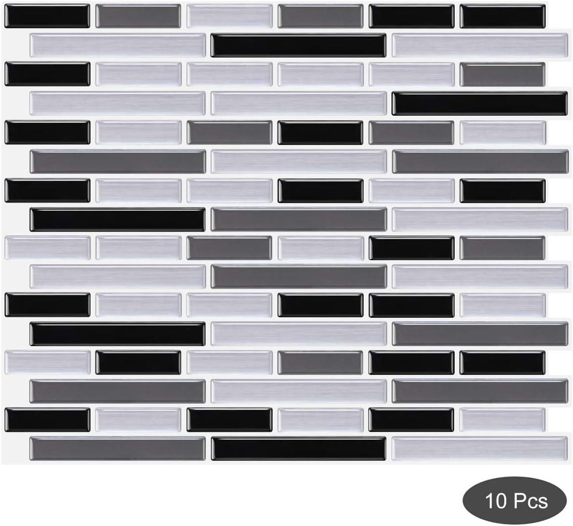 - Amazon.com: Decalmile 10 Pcs 3D Peel And Stick Tile Backsplash 11